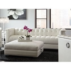 Coaster Chaviano Tufted Sofa in White