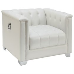 Coaster Chaviano Tufted Chair in White