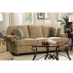 Coaster Colton Traditional Sofa in Wheat