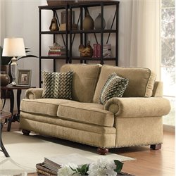 Coaster Colton Traditional Loveseat in Wheat