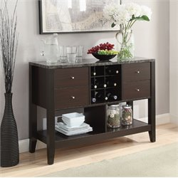 Coaster Wine Rack Sideboard in Cappuccino