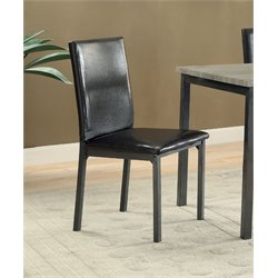 Coaster Upholstered Dining Side Chair in Black
