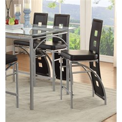 Coaster Counter Stool in Black and Chrome