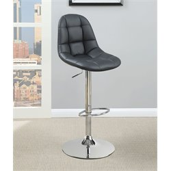 Coaster Faux Leather Adjustable Bar Stool