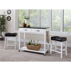 Coaster 3 Piece Kitchen Cart Set