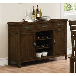 Coaster Wine Rack Sideboard in Rustic Pecan