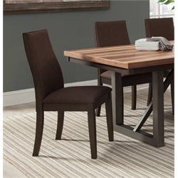 Coaster Upholstered Dining Side Chair in Rich Cocoa Brown