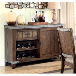 Coaster Wine Rack Sideboard in Brown