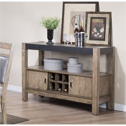 Coaster Wine Rack Sideboard in Antique Natural