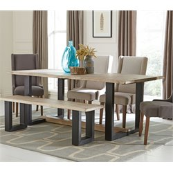 Coaster Dining Table in Weathered Gray