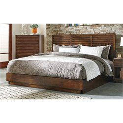 Coaster Panel Bed in Aged Bourbon