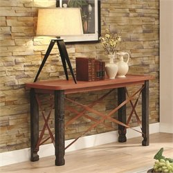 Coaster Console Table in Rustic Orange