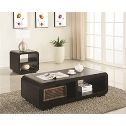 Coaster 2 Piece Coffee Table Set in Cappuccino