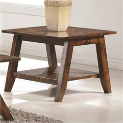 Coaster 1 Shelf End Table in Rustic Pecan