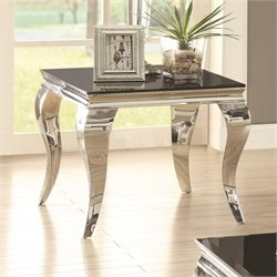 Coaster End Table in Chrome