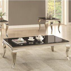 Coaster Coffee Table in Chrome