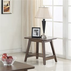 Coaster 1 Shelf End Table in Chestnut