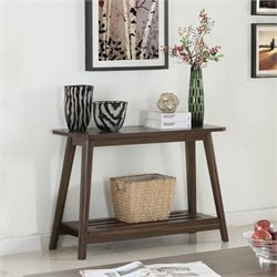 Coaster 1 Shelf Console Table in Chestnut