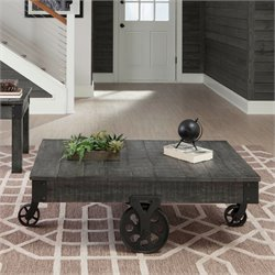 Coaster Coffee Table in Rustic Gray