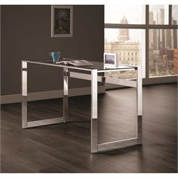 Coaster Writing Desk in Chrome