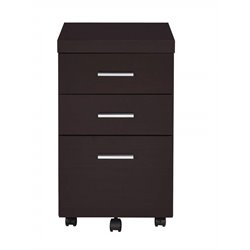 Coaster Skylar 3 Drawer Mobile File Cabinet in Cappuccino