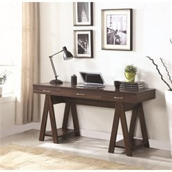 Coaster Writing Desk in Dark Walnut