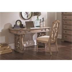 Coaster Ilana Writing Desk in Antique Linen