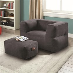 MER-1220 Coaster Lazy Life Bean Bag and Ottoman