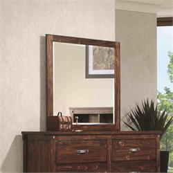 Coaster Noble Mirror in Rustic Oak