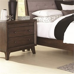 Coaster Bingham 3 Drawer Nightstand in Brown Oak
