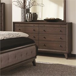 Coaster Bingham 8 Drawer Dresser in Brown Oak