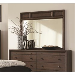 Coaster Bingham Mirror in Brown Oak