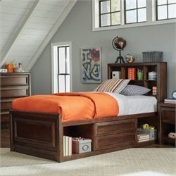 Coaster Greenough Twin Bookcase Storage Bed in Maple Oak