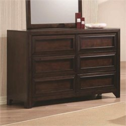 Coaster Greenough 6 Drawer Dresser in Maple Oak