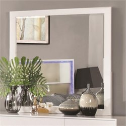 Coaster Havering Mirror in Blanco and Sterling