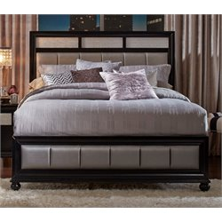 Coaster Panel Bed in Black and Gray