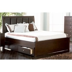 Coaster Faux Leather Storage Panel Bed