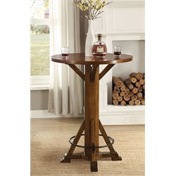 Coaster Round Pub Table in Brown