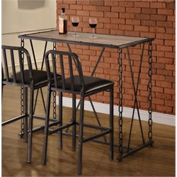 Coaster Metal Pub Table in Black
