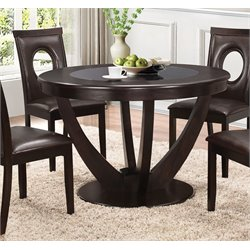 Coaster Round Dining Table in Cappuccino