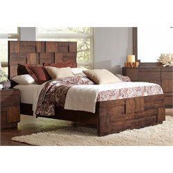 Coaster Panel Bed in Golden Brown