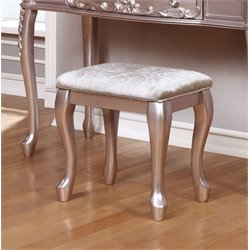 Coaster Vanity Stool in Metallic Lilac
