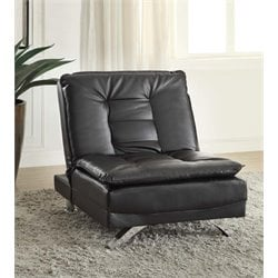 Coaster Convertible Futon Chair in Black
