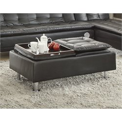 Coaster Coffee Table Ottoman in Black