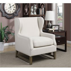 Coaster Upholstered Accent Chair in Linen