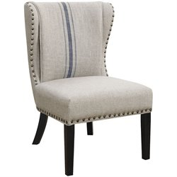 Coaster Upholstered Accent Chair in Gray and Black