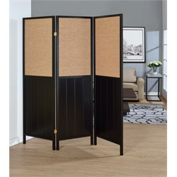 Coaster 3 Panel Room Divider in Black