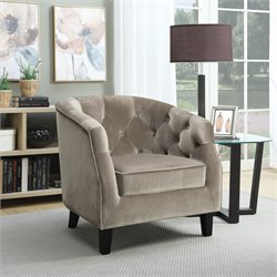 Coaster Velvet Upholstered Tufted Accent Chair