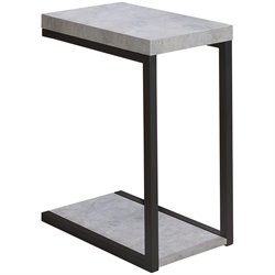 Coaster End Table in Cement and Black