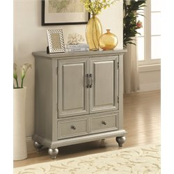 Coaster Accent Cabinet in Metallic Silver White
